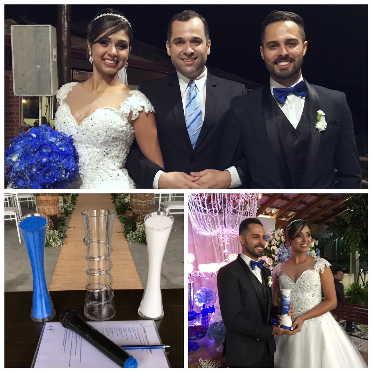 Celebrante Rafael, e os noivos.